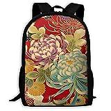 Backpack Japanese Print Spring Bird Flower Mens School Daypack Marvellous Gift