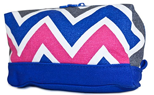 ever-moda-royal-blue-multicolor-chevron-cosmetic-makeup-bag