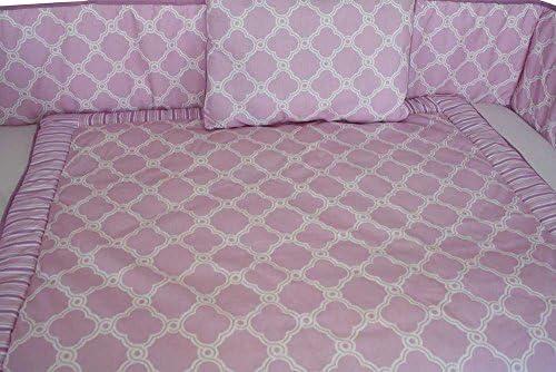 BabyFad Parure de lit bébé 10 pièces Clover Rose