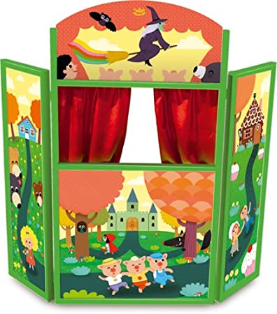Vilac 4624 Legno Racconta Le Tue Storie Teatro delle Marionette