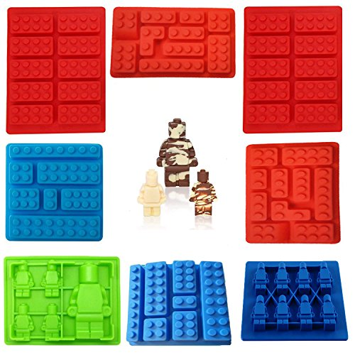Silicone Candy Molds 8 Pack, Ice Cube Molds Building for sale  Delivered anywhere in Canada