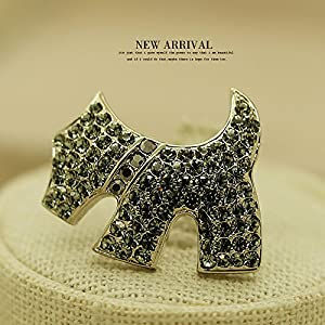 116 bright brooch pin women girls puppy Crystal upscale jewelry brooch pin pin scarf buckle jacket