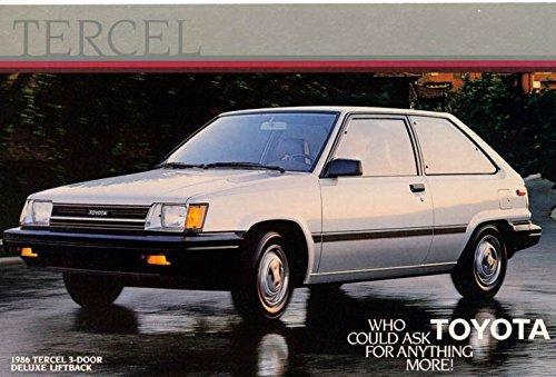 1986 Toyota Tercel 3-Door Deluxe Liftback ORIGINAL Factory Postcard