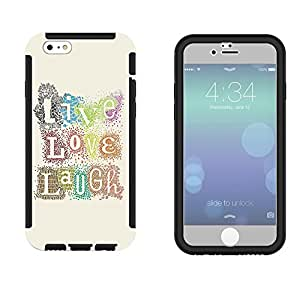 272 - Shabby Chic Floral Live Love Laugh Design iphone 6 plus S 5.5'' Full Body CASE With Build in Screen Protector Rubber Defender Shockproof Heavy Duty Builders Protective Cover