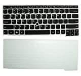 2-Pack Ultra Thin Soft Silicone Gel Keyboard Protector Skin Cover for IBM Lenovo ThinkPad X230, E430, E435, T430, T430c, T430s, T430u, T431s, T440, T440p, T440s, L440, T530, L530, W530 (if your 'enter' key looks like '7', our skin can't fit)(Semi-Black+Clear)