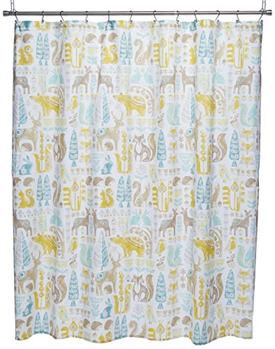 INK+IVY Kids II70-646 Woodland Cotton Shower Curtain, 72 x 72