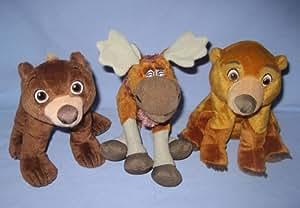 Disney Brother Bear Set of 3 Beanbag & Plush Figures: Koda, Rutt & Kenai