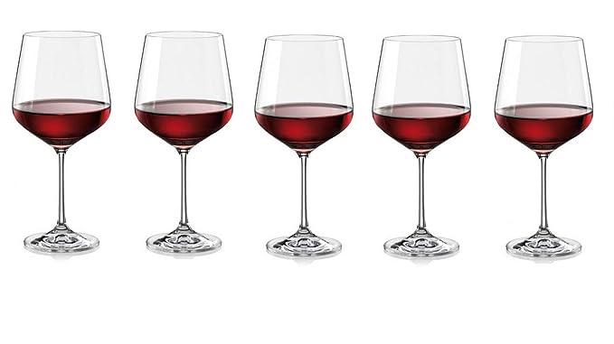 Bohemia Crystal Sandra Wine Glass (570 Ml) Set of 6pcs
