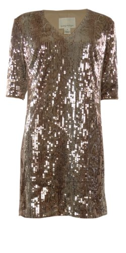 - Donna Morgan Women's Samantha Sequined Sheath Dress, Copper/Multi, 8 US
