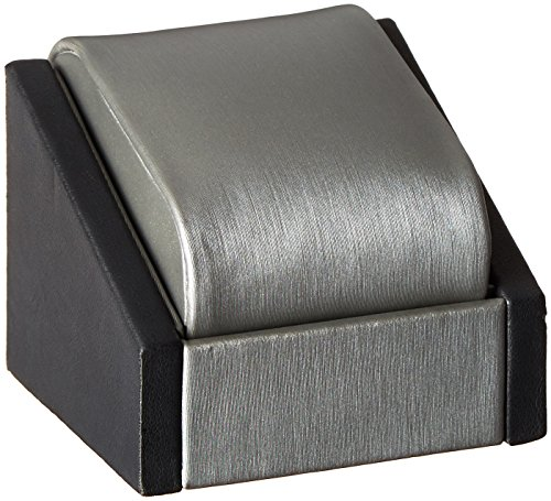 Caddy Bay Collection Two Tone Single Watch Display Case Stand, Gun Metal