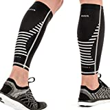 Mava Sports Calf Sleeves Compression (Pair), Leg Compression Calf Sleeve for Runners, for Men & Women, Unisex (Black, Small)