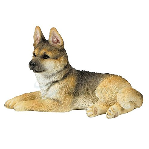 Veronese Design German Shepherd Puppy Sitting Looking Left - Sculpture German Shepherd