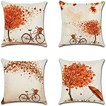 Amazon.com : AmyDong Pillow Cases Square Pillowcase Home ...
