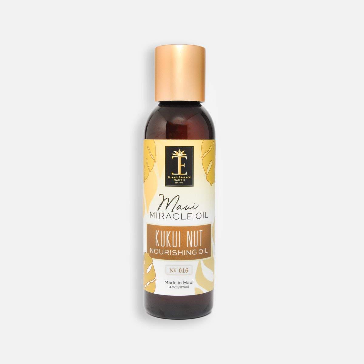 Maui Miracle Oil Hawaii (4.5 Ounce Pump, Kukui Nut Nourishing Oil)