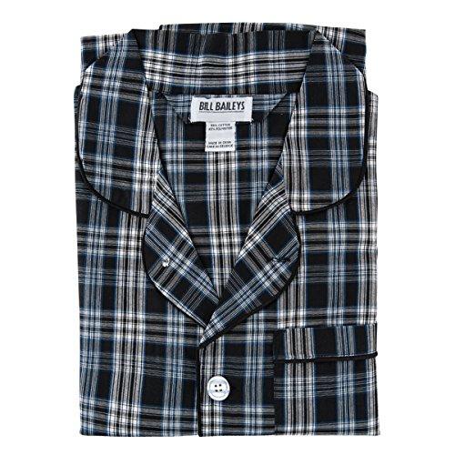 Bill Baileys Sleepwear Men's Broadcloth Woven Pajama Set (2X-Large, Navy)