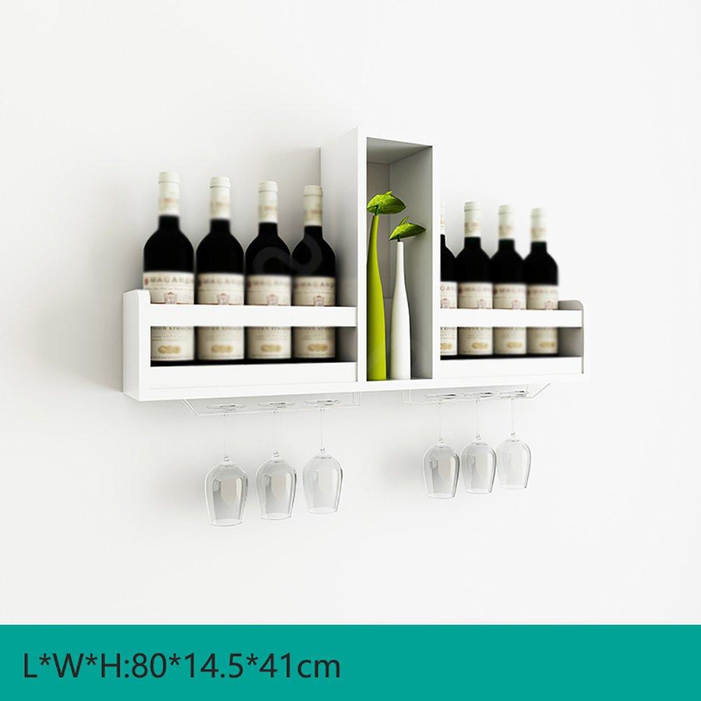 YXX- Legno Governo del vino Wine Rack Legno Per montaggio a parete supporto di vetro Wine Kitchen Parete attrezzata Mensola (Colore : Style-1)