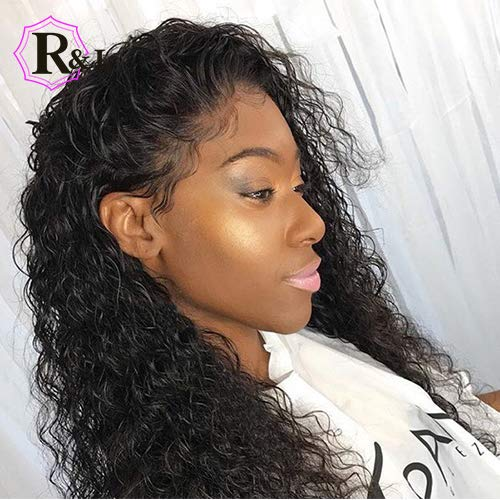 13x6 Curly Lace Front Wigs Human Hair With Baby Hair For Black Women Deep Part Brazilian Remy Hair Wigs Bleached Knots Prep Plucked (12inch)