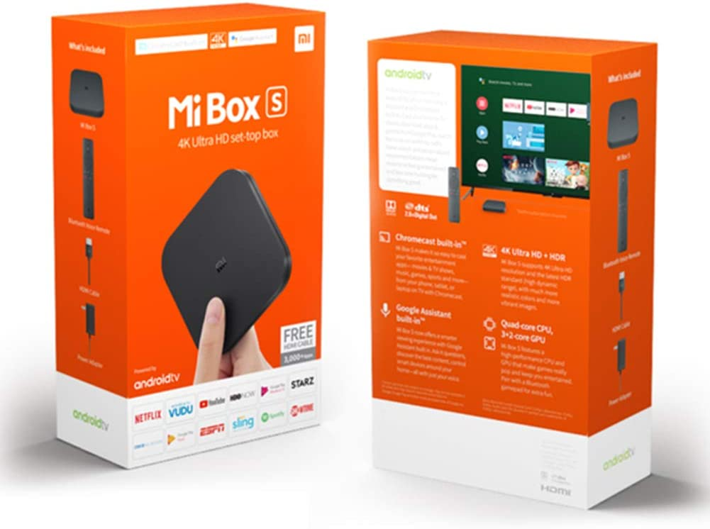 Starriver Xiaomi Mi Android TV Box,Xiaomi Mi Box S ,TV Box Smart Quad Core,TV Box 4K HD Android 8.1 Portable Media Player EU Plug: Amazon.es: Electrónica
