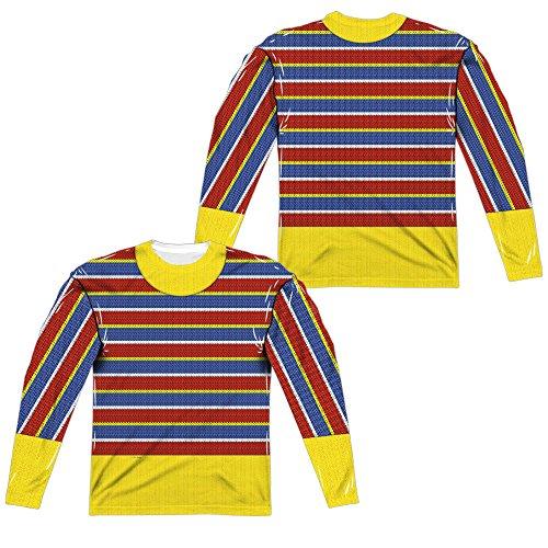 Bert Ernie Costumes Adults (Sesame Street - Ernie Costume Adult Long Sleeve T-Shirt XL)