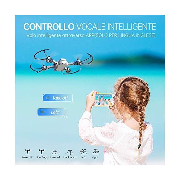 SNAPTAIN A10 720P Mini Drone con Telecamera HD Pieghevole FPV Controllo Vocale, Controllo Gesti, Volo Traiettoria, Volo Circolare, Rotazione ad Alta velocità, 3D Filp, Sensore G, modalità Senza Testa 3 spesavip
