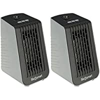 LifeSmart PTC Element 250W Cubicle Portable Electric Desktop Heater & Fan (Pair)
