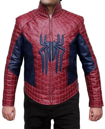 Spiderman Jacket - Red and Black Leather Biker Jacket 2XL