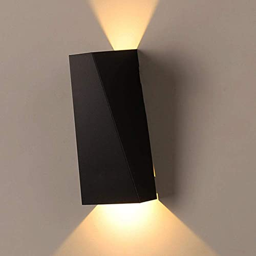 contemporary indoor wall lights wall mounted asvert 10w wall lights led up down waterproof sconce lighting fixture decking patio metal lamp contemporary indoor lights amazoncouk