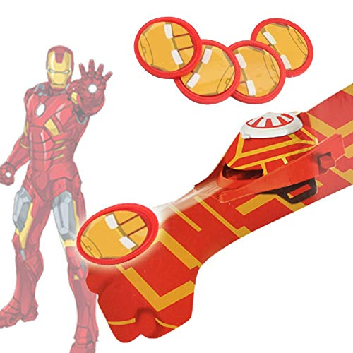 Grocoto Action & Toy Figures - Hot Marvel Avengers Super Heroes Glove Laucher Props Spiderman Batman Hulk Iron Man Cosplay Glove Launcher for Kid 1 PCs ()