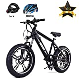 BRIGHT GG NAKTO 26/20 inch City/Snow/Mountain/Beach Electric Bike for Adults with 6 Speed Gear and 36V/48V 10Ah Lithium-Ion Battery