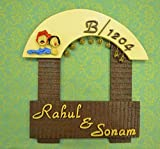 Karigaari India Wooden Rahul & Sonam Name Plate