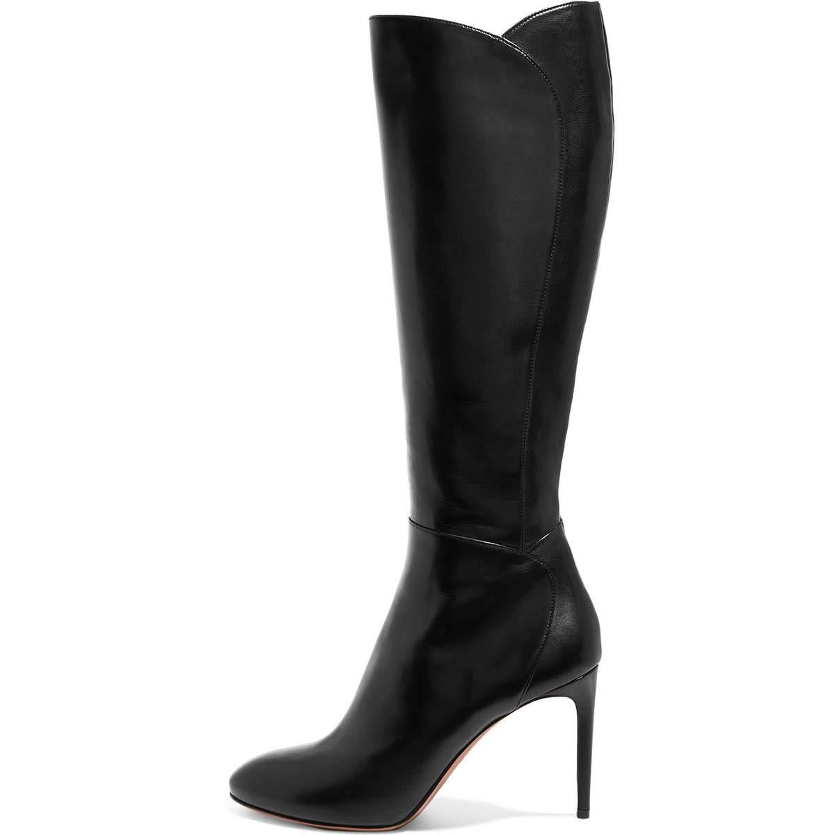 30c71e2f374 Amazon.com | FSJ Women Knee High Long Boots Round Toe Stiletto Heel ...