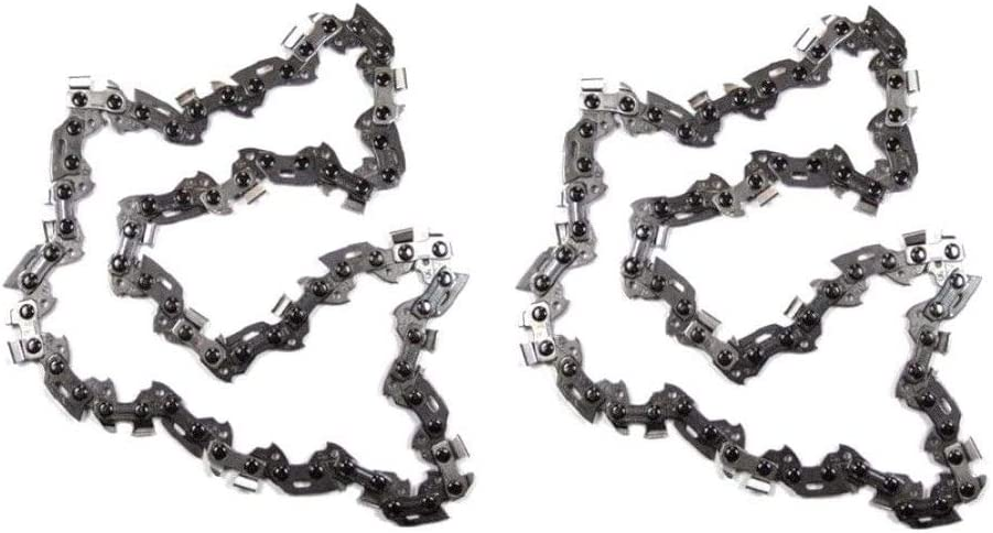 "2PC 12-Inch Pole Saw Chain for Black & Decker LCS1240 40-Volt Cordless Saw Dewalt 12"" Bar DCCS620B"
