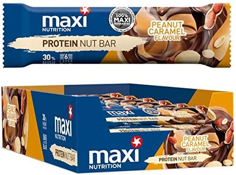[Gesponsert]MaxiNutrition Protein Nut Bar - Peanut Caramel, 18 x 50g (900g)