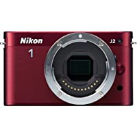 Nikon 1 J2 10.1 MP HD Digital Camera (Red) Body Only