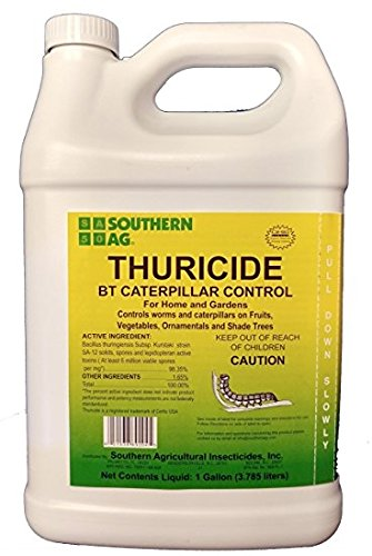 Shouthern Ag Thuricide HPC For Control of Caterpillars & Worms, 1 Gallon - 128oz by Southern Ag