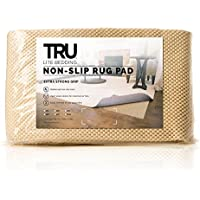 TRU Lite Extra Strong Rug Gripper - Non Slip Furniture Pad - Indoor Carpet Pad for Hardwood Floors - Anti Skid Mat - Anchors Rugs to Floors - Trim to fit Any Size - 2 x 8
