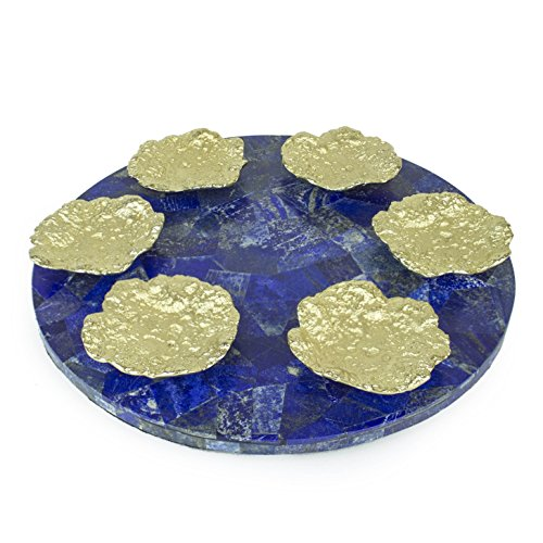 Quest Collection Lapis & Gold Seder Plate