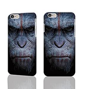 Dawn of the Planet of the Apes Custom Diy Unique Image Durable 3D Case Iphone 6 Plus - 5.5 Hard Case Cover