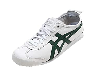 ed86db0cc2e0 Onitsuka Tiger Mexico 66 Trainers in White Leather  Amazon.co.uk  Shoes    Bags