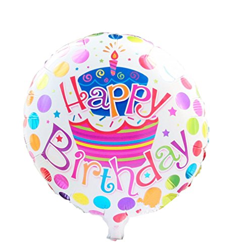 [Happy Birthday Foil Balloons Children Inflatable Toys Helium Balloon Party Decoration (White)] (Dance Central Character Costumes)