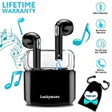 Wireless Earbuds,Bluetooth Earburds Stereo, Wireless Earphones Bluetooth with Mic Mini In-Ear Earbuds Earphones Earpiece Sweatproof Sports Earbuds with Charging Case for smartphones IOS Android