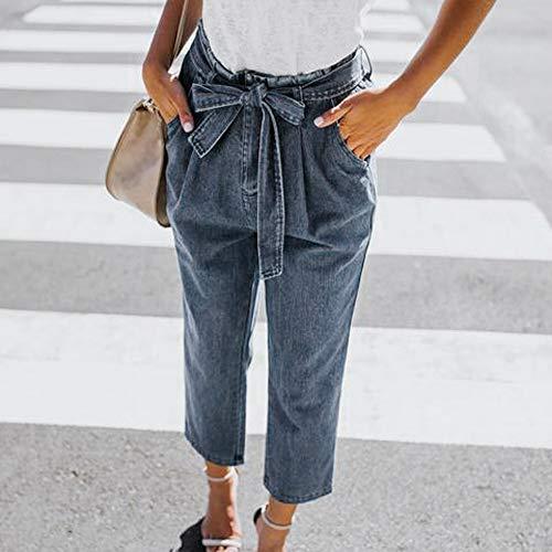 Lache Bandage Pants conqueror Haute Jeans Femmes Taille Stretch Trou Bleu Jean Denim Bow pp6wx