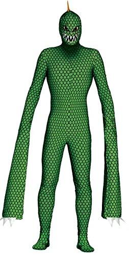 Mens Mutant Reptile Sleestak Film Alien Monster Halloween Fancy Dress Costume Outfit (Large)