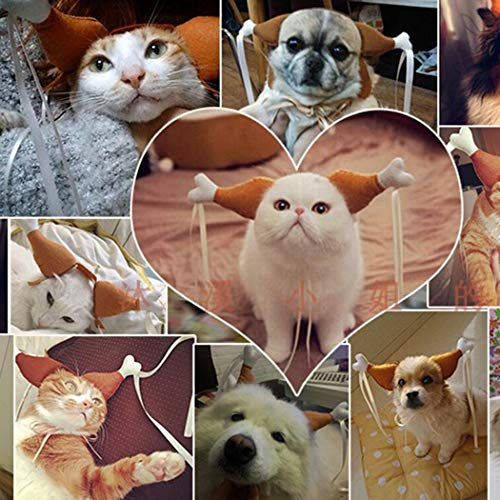 Hello22 Pet Cat Dog Headwear Chicken Legs Shape Headband Wedding Party Props Apparel]()