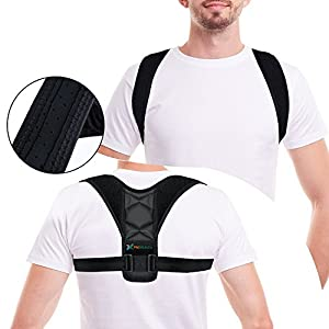 Figure 8 Posture Corrector Clavicle Support Brace for Upper Back & Shoulder, Best Brace Help to Inprove Posture for Men & Women(Black, Small)