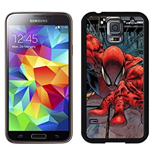Fashion DIY Custom Designed Samsung Galaxy S5 I9600 G900a G900v G900p G900t G900w Phone Case For Cartoon Spiderman Climbing Building Phone Case Cover