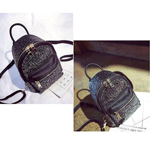 dos femmes sac paillettes sac mini Fanshu filles à Argent bandoulière Noir à mignonnes 0YwqUwa