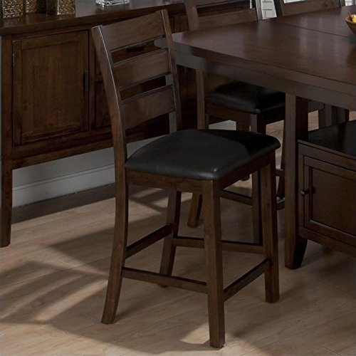 Taylor Wood Bar Table (Jofran Triple Slat Counter Height Stool in Taylor Brown Cherry (set of 2))