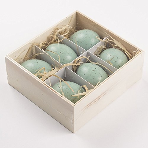 Small Speckled - Robin's Egg Blue 6 Piece 2 Inch Speckled Decorative Egg Set