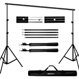 Backdrop Stand Kit, BDDFOTO 6.5x10ft/2x3m Photography Adjustable Background Stand System with Canvas Bag,Photography Studio P